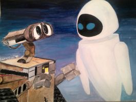 Walle and Eve by skymaple