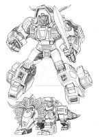 G-1 Dinobot Slag by Dan-the-artguy