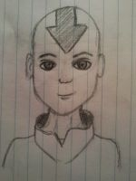 Attempt at Aang - Avatar by Devynae