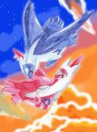 OLD Art: Latios and Latias by Freewolf7