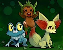 6th Generation Starters by niwatori