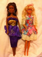 Unknown Totsy doll and Sindy(?) 1988 Hasbro by Candy-Bang