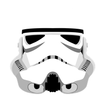 Stormtrooper Helmet - Star Wars Vector by firedragonmatty