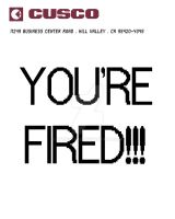 YOU'RE FIRED by Htofstead