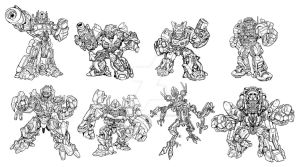 Movie Robot Heroes concept art by MarceloMatere