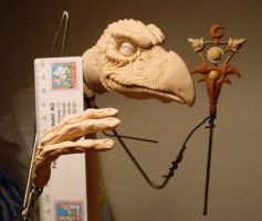 Skeksis Work in progress 1 by Skulpturen