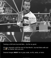 CM Punk Journal Skin by UnderAbigailsRose