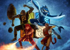 The Four Elements by Koru-Xypress