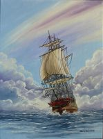 18th century sailing vessel by worldIsee