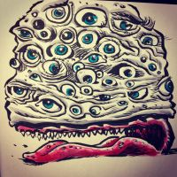 Eyeball Monster by thegreck