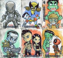 Marvel Beginnings Cards 1 by lordmesa