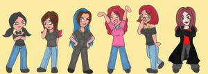Channel Awesome's Girls by NickyVendetta