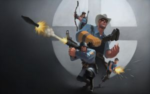 TF2 BLU Wallpaper by Matt2010