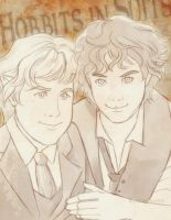 Sam and Frodo by ladyarrowsmith