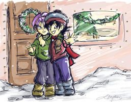 Happy Holidays- Chib Tks-Goten by lauraneato
