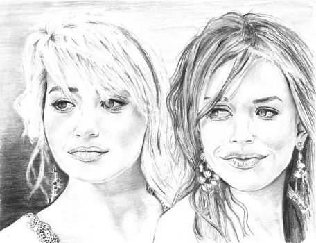 The Olsen Twins by marmicminipark