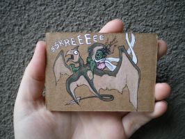 Cliffrider Art Card by Quilsnap