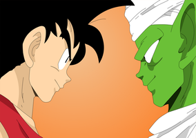 Goku Vs Piccolo by Ezequiel-D