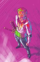 Zoro don't play whit colors by Musashi-son