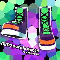 MMD Purple Boots+DL by Green-Fighter