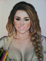 Miley Cyrus color by akshay-nair