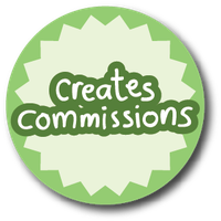 profile stickers - creates commissions pastel grn by iAmAneleBiscarra