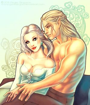 Zevran and Ayla by GunnerGurl