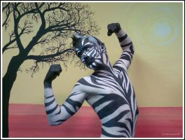 Zebra Body Art by 1lonelyangel