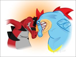 Krookodile vs Feraligatr by Kroxie