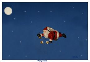 Flying Santa by Deb-e-ann