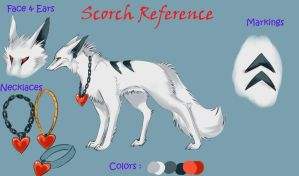 Newest Scorch Ref Sheet by Scorched-FoxFire