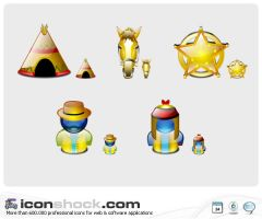 Wild West Lumina Icons by Iconshock