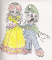 Luigi and Daisy by Lady-of-Link