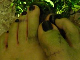 Monster's Green Toes by Yes-Mistress--Please