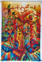 Hand-woven Tapestry: Mayor Spirit by Maximo Laura by Maximo-Laura