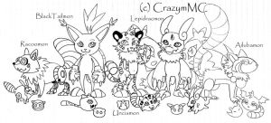 Digimon team + ShifterDreams + Lines by CrazymMC