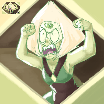 .: SCRD :. Angry smol green by iScribbleChocotroll