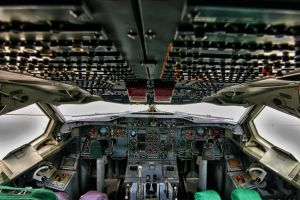 AeroUnion Airbus A300 Cockpit by laloxxx