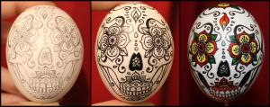 Sugar Skull Egg by M-Everham