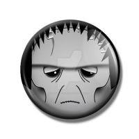 Frankenstein's Monster Pin Back Button by Mutant-Cactus