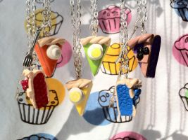 Pie Slice Necklaces by lessthan3chrissy