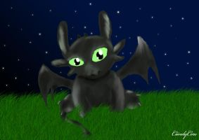 Baby Toothless by CiindyCore