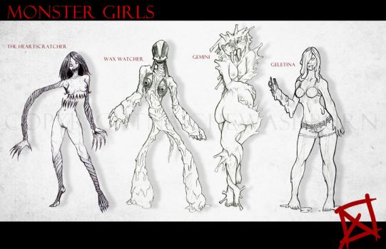 Monster Ladies by AggroArt