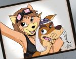 [OC] Ora Kitsune and Mad Dog Selfie [TaleSpin] by killedbycreatures