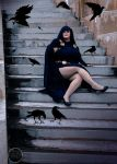 Raven with ravens by HolyDemon