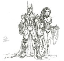 Batman And Wonder Woman by RockyMtnOysters