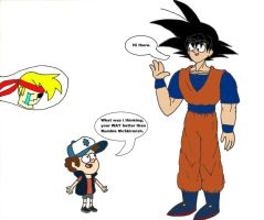 When Dipper gets Goku by WaRrior9100