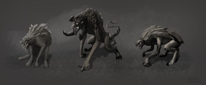 Creature Thumbnail Sketches by AlexKuhn
