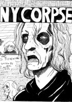 NYCorpse cover black and white by mikurose