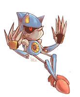 A game character a day 003-Metal Sonic by Sony-Shock